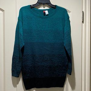 Divided by H&M Teal/Black Ombré Knit Sweater Tunic